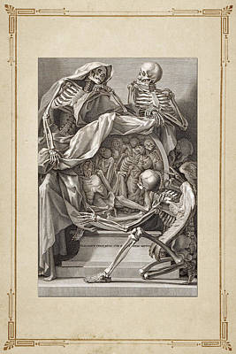Bernardino Genga's Anatomia Per Uso Et Intelligenza Del Disegno - Allegorical Emblems Of Death.  Poster by Serge Averbukh