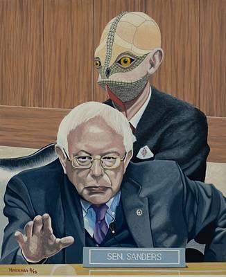 Bernie And The Reptilian Poster by John Houseman