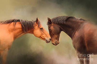 Best Friends - Two Horses Poster by Michelle Wrighton