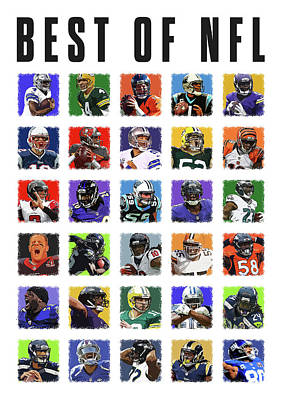 Best Of Nfl Poster by Semih Yurdabak