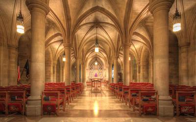Bethlehem Chapel Washington National Cathedral Poster by Shelley Neff