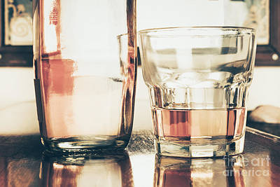 Beverage Picture On A Glass Of Golden Rum 50ml Poster by Jorgo Photography - Wall Art Gallery