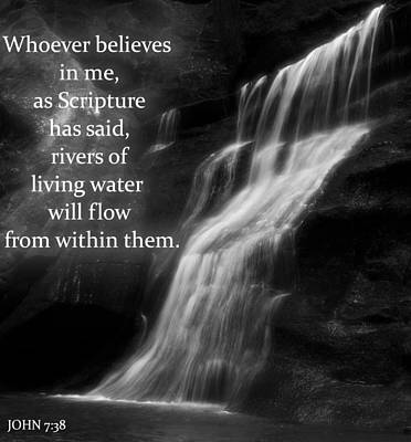 Bible Quote Living Water Poster by Dan Sproul