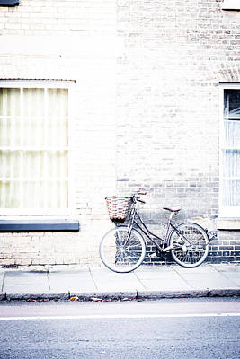 Bicycle With Basket Poster by David Ridley