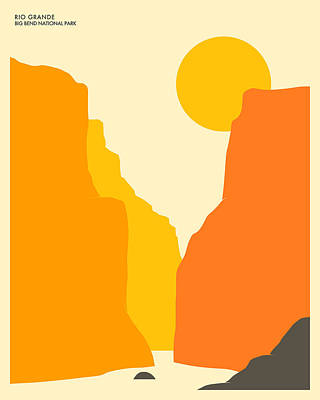 Big Bend National Park Poster by Jazzberry Blue
