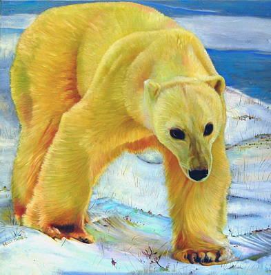 Big Foot Churchill Polar Bear Poster by Kelly McNeil