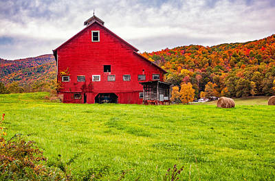 Big Red Barn Poster by Steve Harrington