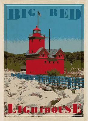 Big Red From The Pier Poster by Michelle Calkins