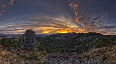 Big Rock Panorama Poster by Mark Kiver
