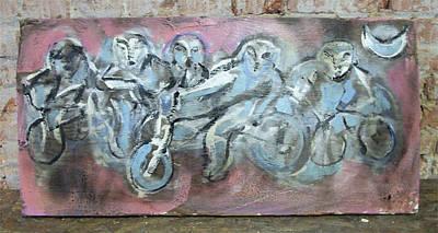 Bike Gang Poster by Dean Cercone