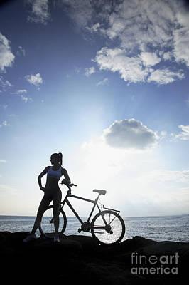 Biking Silhouette Poster by Brandon Tabiolo - Printscapes