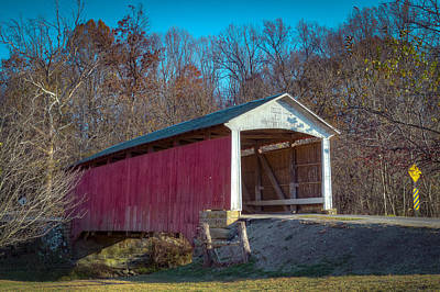Billie Creek Covered Bridge - 16 Poster by Jack R Perry