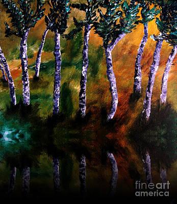 Birch Forest Reflections Poster by Ayasha Loya Aka Pari  Dominic