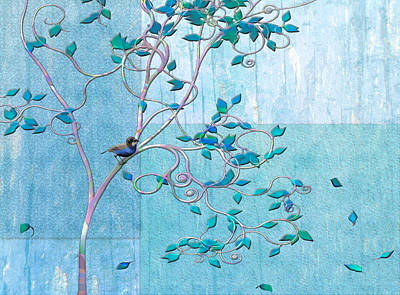 Bird In A Tree-1 Poster by Nina Bradica