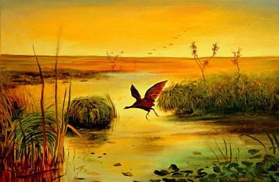 Bird Water Poster by Henryk Gorecki