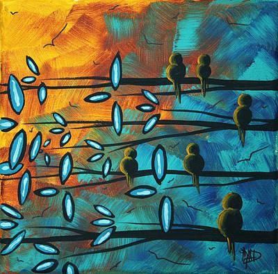 Birds Of Summer By Madart Poster by Megan Duncanson