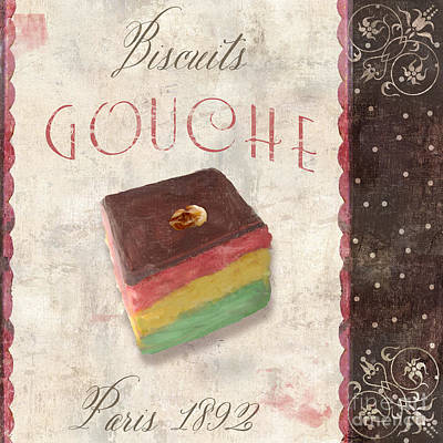 Biscuits Gouche Patisserie Poster by Mindy Sommers