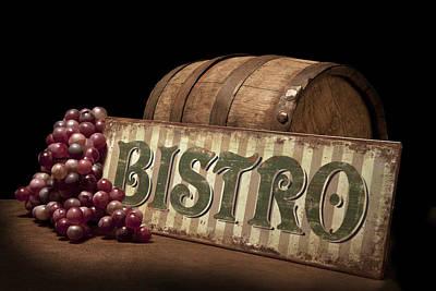 Bistro Still Life Iv Poster by Tom Mc Nemar