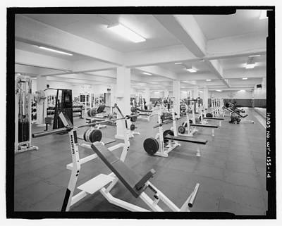 Black And White Weight Room Photograph Poster by PhotographyAssociates