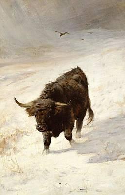 Black Beast Wanderer  Poster by Joseph Denovan Adam