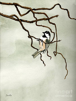 Black Capped Chickadee Poster by Antony Galbraith