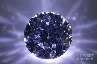 Black Diamond Shine Aura. Poster by Atiketta Sangasaeng
