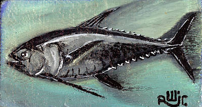 Black Fin Tuna Poster by Robert Wolverton Jr