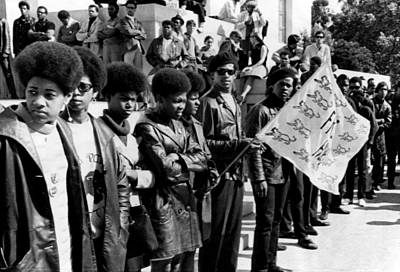 Black Panther Party Members Show Poster by Everett