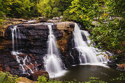 Black Water Falls In West Virginia In Early Autumn Poster by Vishwanath Bhat