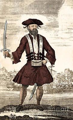 Blackbeard, Edward Teach, English Pirate Poster by Science Source