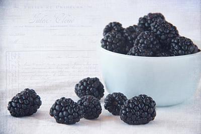 Blackberries Poster by Cindi Ressler