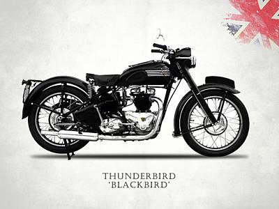 Blackbird 1950 Poster by Mark Rogan