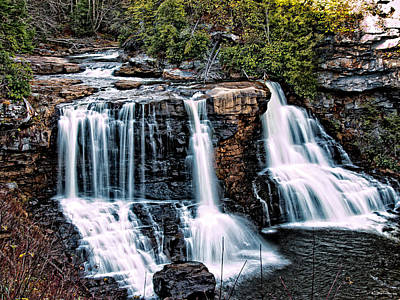 Blackwater Falls, West Virginia Poster by Skip Tribby