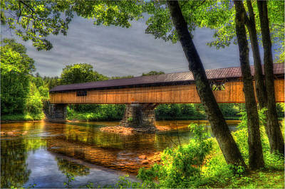 Blair Bridge - Campton Nh Poster by Joann Vitali
