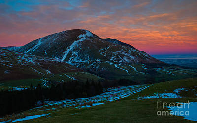 Blencathra-winter Sunset Poster by John Collier