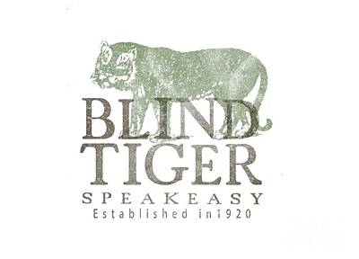 Blind Tiger Speakeasy Tee Poster by Edward Fielding