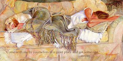 Bliss With Bible Verse Poster by Susan Hensel