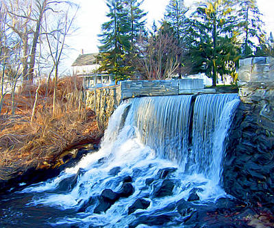 Blissville Falls Poster by Sue  Brehant