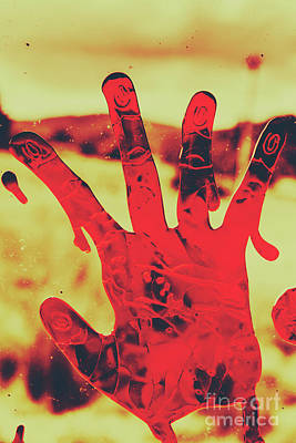 Bloody Halloween Palm Print Poster by Jorgo Photography - Wall Art Gallery