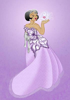 Blow A Kiss- Purple Version Poster by Rachel Marquez