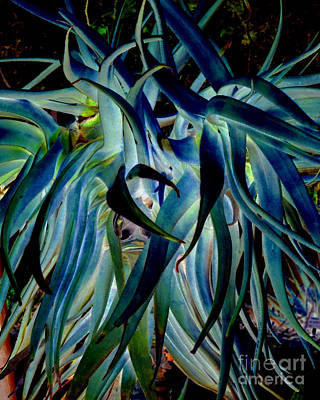 Blue Abstract Art Lorx Poster by Rebecca Margraf