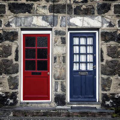 Blue And Red Doors Poster by Joana Kruse