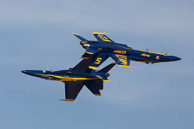 Blue Angel Solos Poster by John Daly