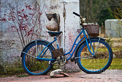 Blue Bicycle Poster by Ms Judi