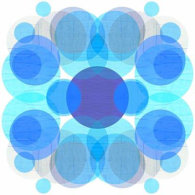 Blue Circles Poster by Michelle Calkins
