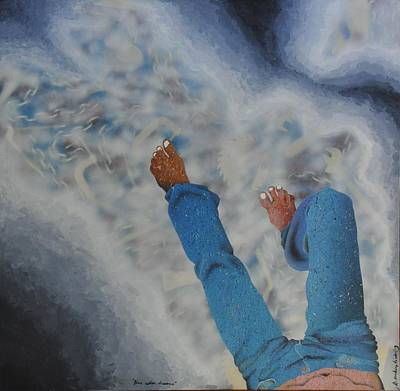 Blue Collar Dreams Poster by Alexander Menchero