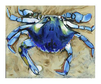 Blue Crab Poster by Debbie Brown