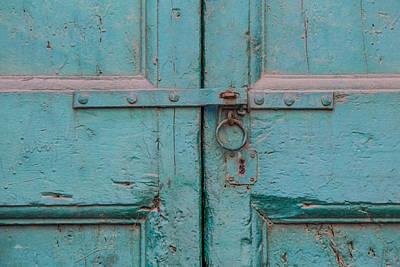 Blue Door Of Cortona Poster by David Letts