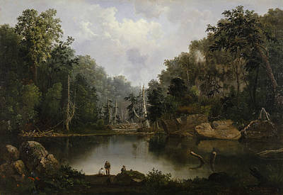 Blue Hole Flood Waters Little Miami River Poster by Robert Seldon Duncanson