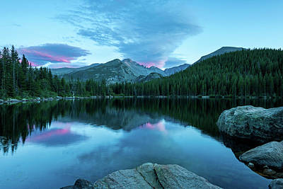 Blue Hour At Bear Lake-thomasschoeller.photography Poster by Thomas Schoeller
